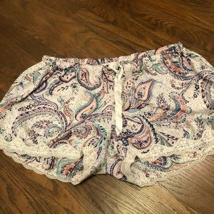 Silk pajama shorts